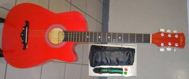 RCStromm Acoustic Guitar 38 Inch 38C Light Red