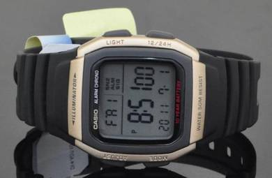 Casio Digital 10 Years Batt. Rubber Watch W-96H-9A
