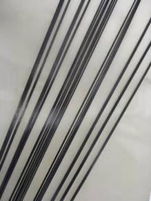 0.5mm x 5mm x 1000mm carbon fibre flat bar