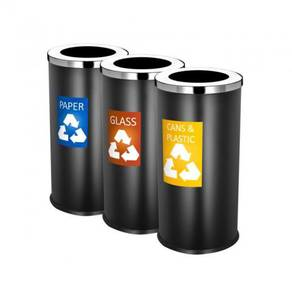 Black body recycle bin 3 in 1 - new