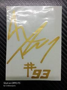 Stiker Sign Marquez 93 - Gold