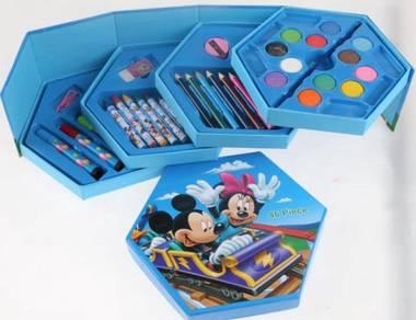 46 pcs Cartoon Colouring Gift Set MICKEY MINNIE