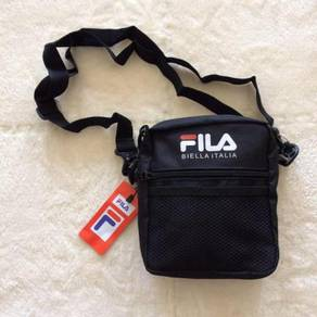 Black red blue unisex fila slingbag