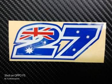Stiker 27 Casey Stoner Motogp