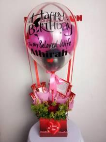 Box Balloon with clear balloon juasseh