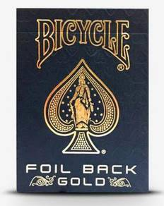 Bicycle Gold Foil Back Poker Playing Card