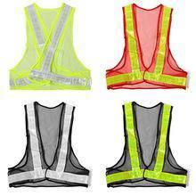 Safety vest v netting