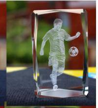 Football club - messi crystal barcelona