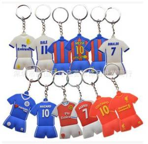 Football club - Messi Ronaldo Hazard Bale keychain