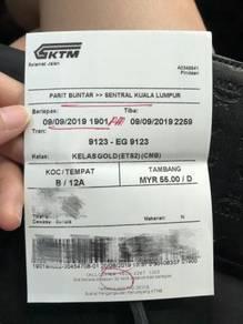 ETS Train ticket