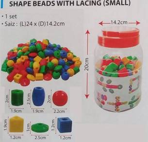 Shape Beads With Lacing (Small)