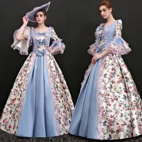 Victorian Gown Dress Wedding floral RBMWD0320