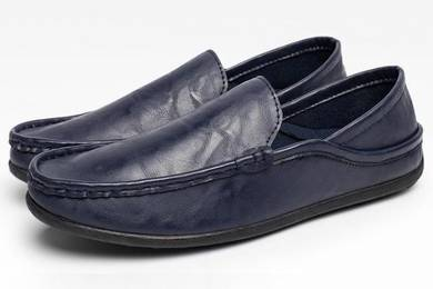 F0224 Dark Blue Loafer Slip On Casual Kasut Shoes
