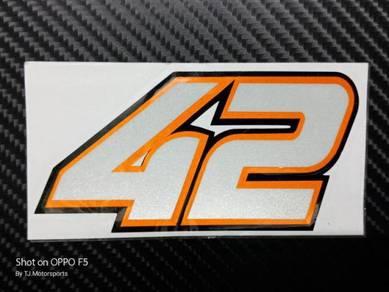 Stiker 42 Alex Rins Motogp