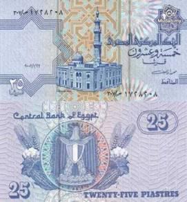 Egypt 25 piastre unc
