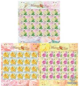 Mint Stamp Sheet Roses 2nd Series Malaysia 2014