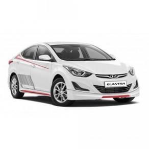 Hyundai elantra le bodykit with spoiler body kit