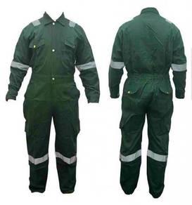 100% cotton coverall dark green