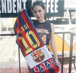 Football club - FC barelona messi towel