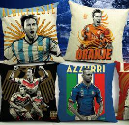 Football club - MESSI AZZURI pillow