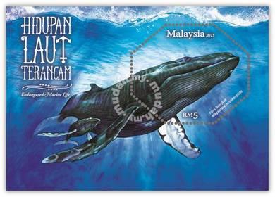 Miniature Sheet Endangered Marine Life Msia 2015