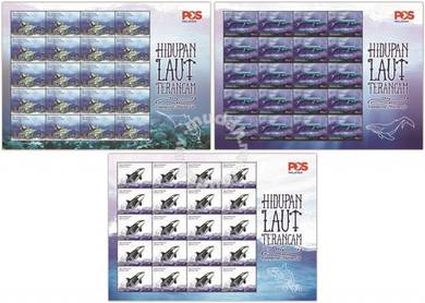 Mint Stamp Sheet Endangered Marine Life Msia 2015