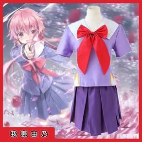 Anime Mirai Nikki Yuno Gasai cosplay costume