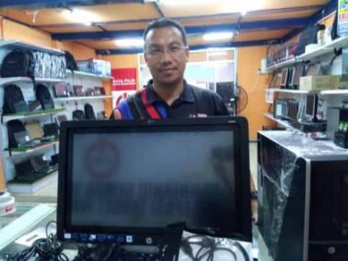 Pc Skrin Besar 23 Inch Touch Siap CPu Amd10 4gb ra