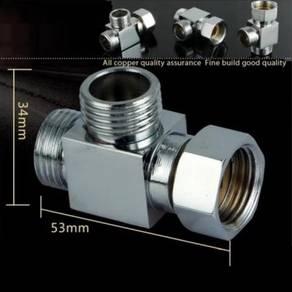 [HB861] Water Tap Brass TEE Adaptor Converter