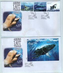 First Day Cover Endangered Marine Life Msia 2015