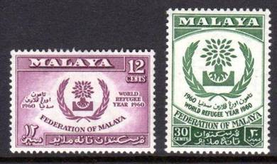 Mint Stamp World Refugee Year Malaysia 1960