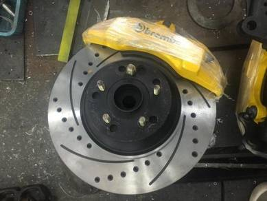 Vellfire alphard install 6/4 piston caliper set