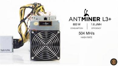 New Antminer L3+ 504Mh/S Ready Stock