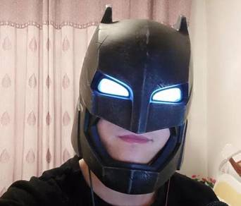 Batman Armored Helmet LED Wearable