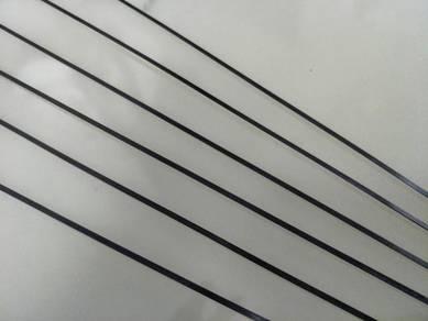 0.5mm x 3mm x 1 meter carbon fibre flat bar
