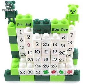 DIY Calender Puzzle With Bear- Green