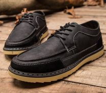 F0238 Black Tooling Dock Business Man Kasut Shoes