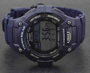 Casio Men Digital Solar Rubber Blue Watch W-S220-2