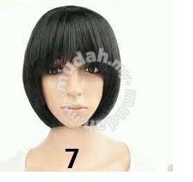 Cosplay Multicolor Bobo Short Wig - LSC1 black