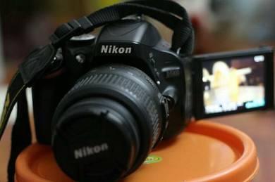 Nikon d5100+Lens kit 18-55mm