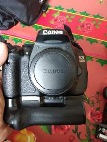 Canon 600d body & accessories