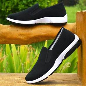 F0269 Black Slip On Wear Breathable Kasut Shoes