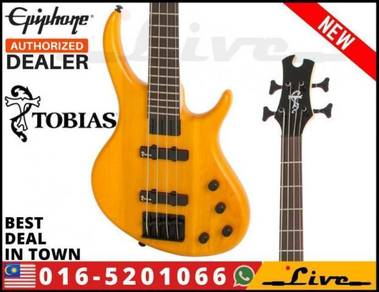 Epiphone Toby Deluxe-IV 4-String Bass Guitar Amber