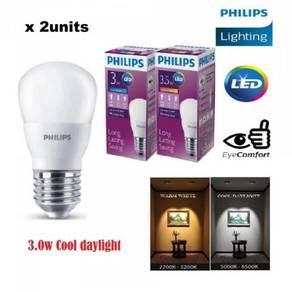 PHILIPS LED Bulb E27 - Cool Daylight (3w) X2units