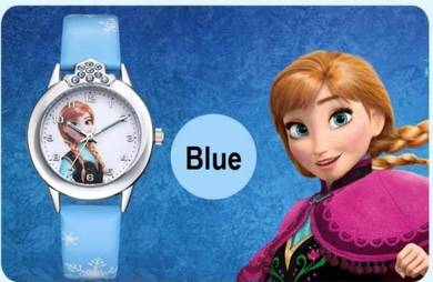 [PT563] Frozen Style Blue Color Kids Watch (Jam )