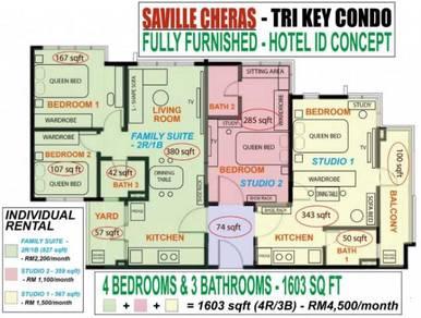 BELOWMARKET Saville Cheras Tri-Key Condo Walking Distance MRT