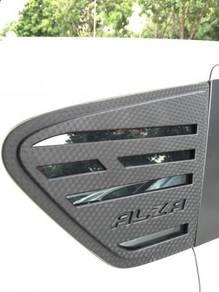 Perodua alza 3d carbon side window cover