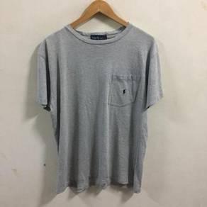 Ralph Lauren Pocket Shirt Size L Gray vintage polo