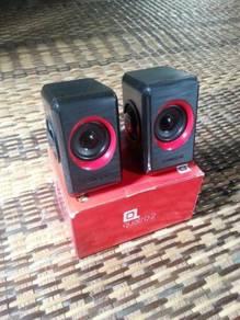 Speaker Sonic Gear Quatro 2 Red New