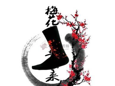 Socks (Thick/Flower/Red)